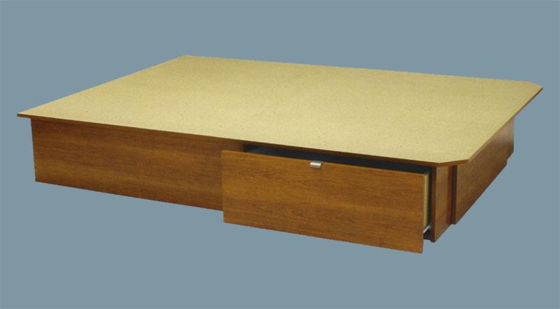 matelas conseils plateformes nouveau concept lit plateforme avec un tiroir de chaque c t. Black Bedroom Furniture Sets. Home Design Ideas